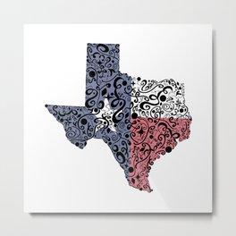 Texas - Hand Sketched Doodle Art Metal Print