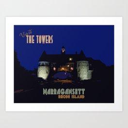 The Towers, Narragansett, Rhode Island Art Print