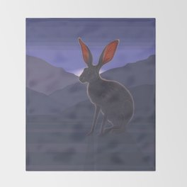 Black-tailed Jackrabbit Throw Blanket