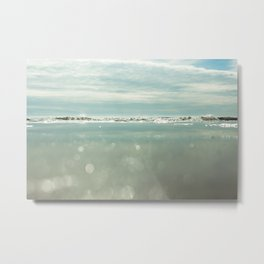 waves and sparkles Metal Print