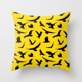 Eagles // Gold Throw Pillow