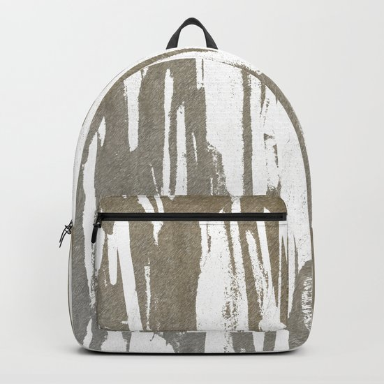 Abstract Taupe Splash Design Backpack