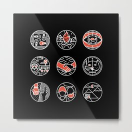 blurry icons II Metal Print