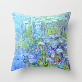 Water Lilies monet : Nympheas Throw Pillow