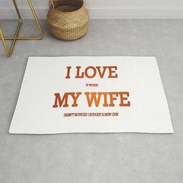 I love my wife and guns Rug
