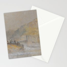 """J.M.W. Turner """"Foul by God - River Landscape with Anglers Fishing From a Weir"""" Stationery Cards"""