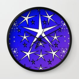 Allthesestarspurpblu Wall Clock