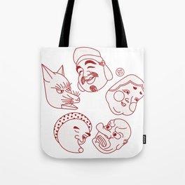 Japanese Masks Tote Bag