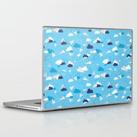airplanes Laptop & iPad Skins featuring Paper Airplanes by Polita