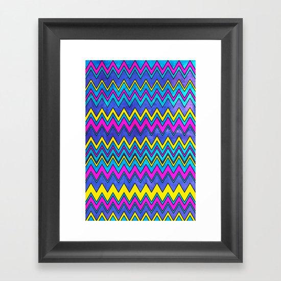 Neon Wave Framed Art Print