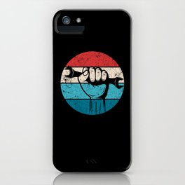 Auto Mechanic Retro Sun iPhone Case