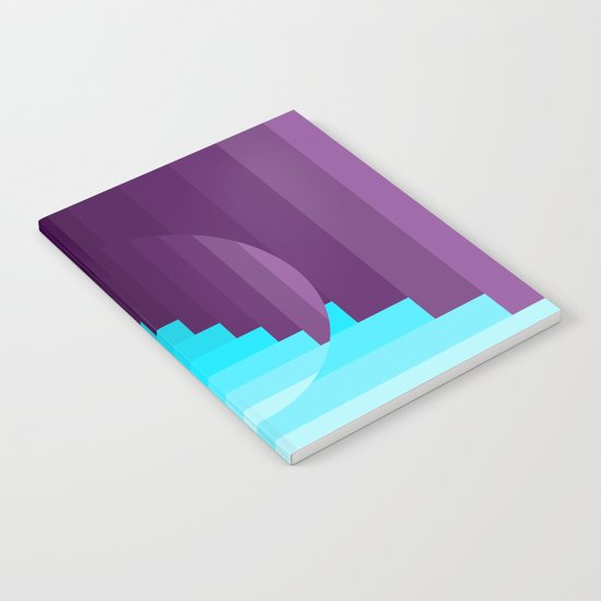Ups and Down | Deep Within | Purple | Blue | Turquoise Notebook
