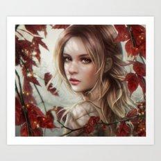 Red clover Art Print