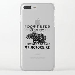 RACE MY MOTORBIKE Clear iPhone Case