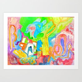 maravillas en el bosque Art Print