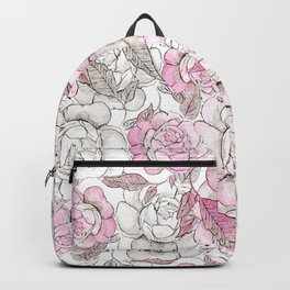Silver peony dreams Backpack