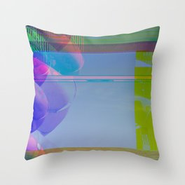 Yellow Helter Tide Throw Pillow
