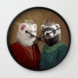 Skittle & Belette Wall Clock