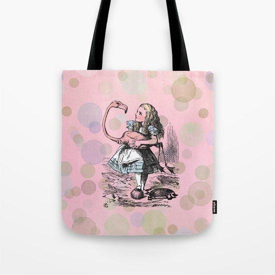 Alice plays Croquet Tote Bag