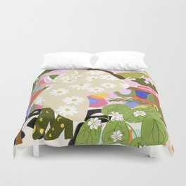 Hanging out with plants Duvet Cover