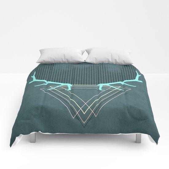 minimalistic deer Comforters