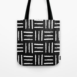 Simple mudcloth pattern - black Tote Bag