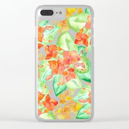 Succulent flowers Clear iPhone Case
