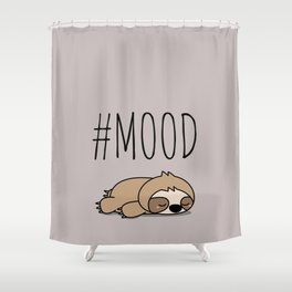 #MOOD - Sleepy Sloth Shower Curtain