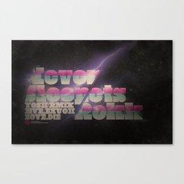 Never Sleep / Lets Rokk Horizontal Canvas Print