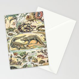 Reptiles by Adolphe Millot // XL 19th Century Snakes Lizards Alligators Science Textbook Artwork Stationery Cards