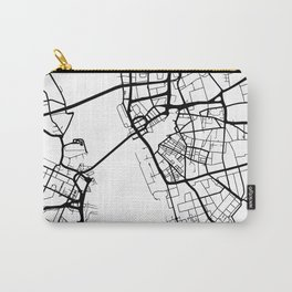 LIVERPOOL ENGLAND BLACK CITY STREET MAP ART Carry-All Pouch