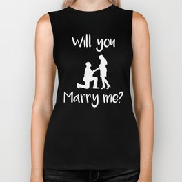 Marriage Proposal Will You Marry Me Biker Tank
