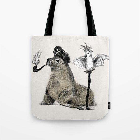 Pirate // seal parrot Tote Bag