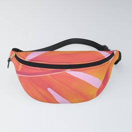 Monstera Quench - Pink & Orange Fanny Pack