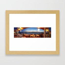 Panaromic restaurant Framed Art Print