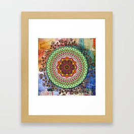 Circle of Flowers Framed Art Print