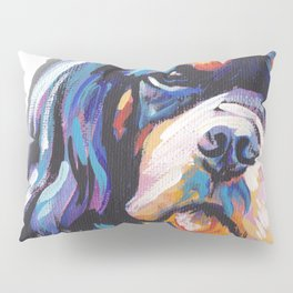 black and tan Cavalier King Charles Spaniel Dog Portrait Pop Art painting by Lea Pillow Sham