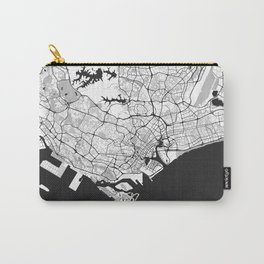 Singapore Map Gray Carry-All Pouch