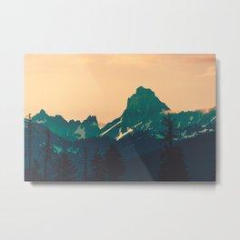 Cascade Mountains Sunset Metal Print