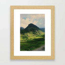 Mountain in Glencoe, Scotland Framed Art Print
