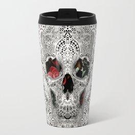 Lace Skull Light Travel Mug