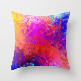 Colorful Splatter Throw Pillow