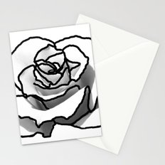 The outline of a Rose Stationery Cards