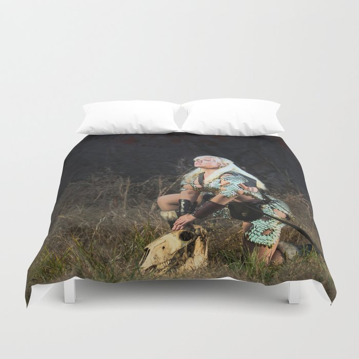 The Ravisher movie poster by Cameron Cox Duvet Cover