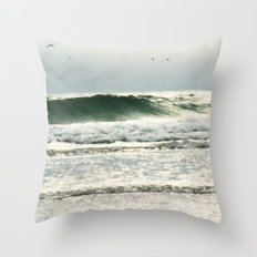 the sea in my memory Throw Pillow
