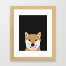 Indiana - Shiba Inu gift design for dog lovers and dog people Framed Art Print