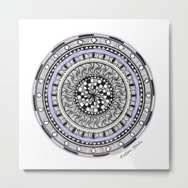 Zendala Artwork Metal Print