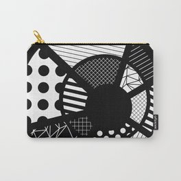 Twisted Web - Black And White, Patterned, Abstract Art Carry-All Pouch