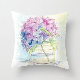 Hydrangea, Still Life Throw Pillow