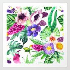 Campus of Flowers Art Print